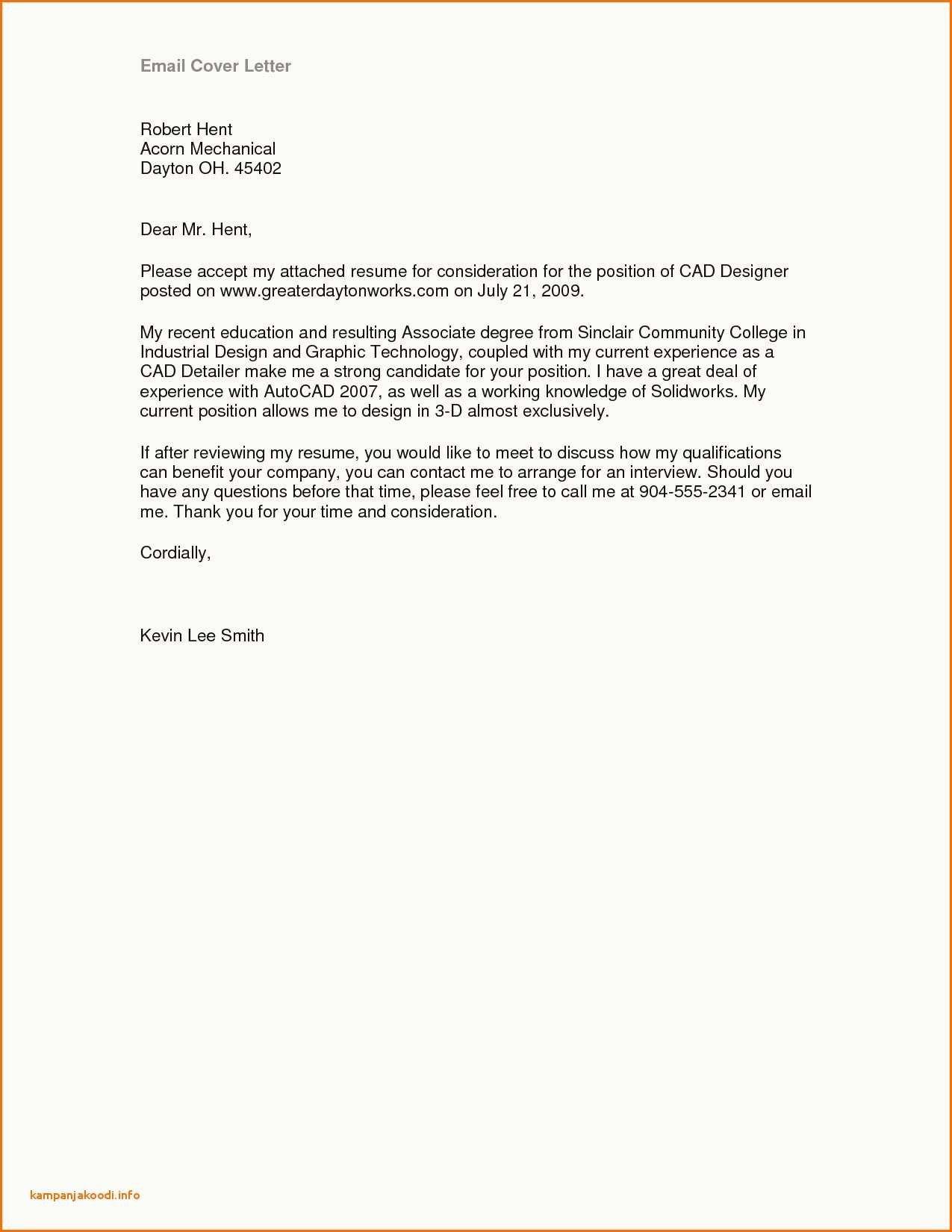 Resume Format For Job Application Letter
