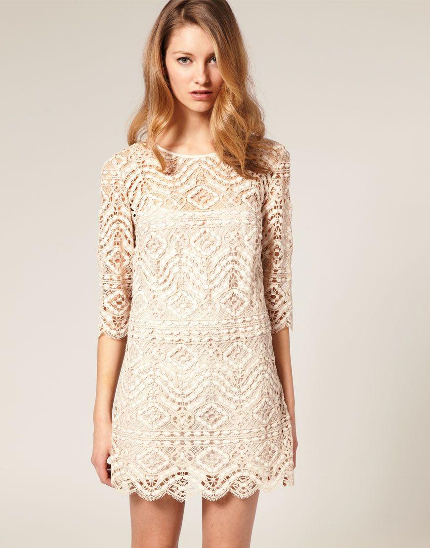 Lace summer dress dresses i love pinterest short lace wedding