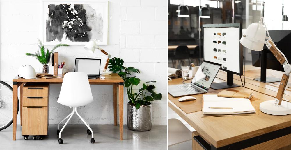 Madera Oak 54 Desk In 2020 Desk Modern Desk Mid Century
