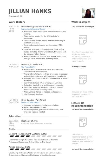 Resume Templates Journalism ResumeTemplates