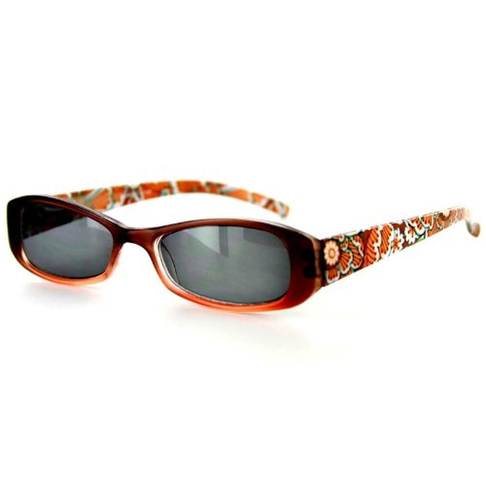"""Sun Orchard"" Fashion Non-Bifocal Reading Sunglasses with Floral Design"