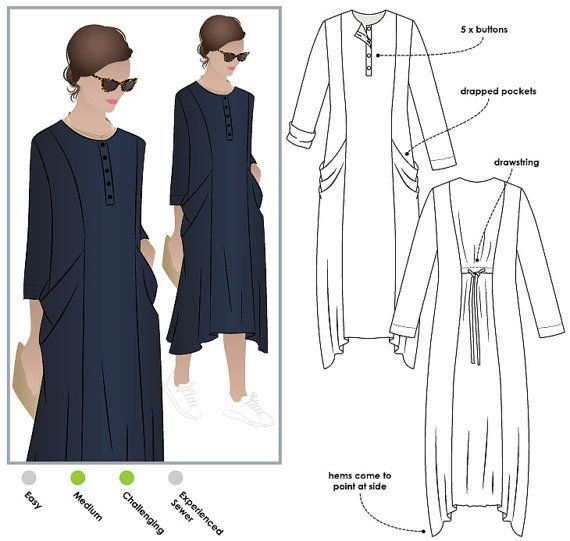 Winsome Designer Dress Sewing Pattern - Sizes 14, 16 and 18 ...