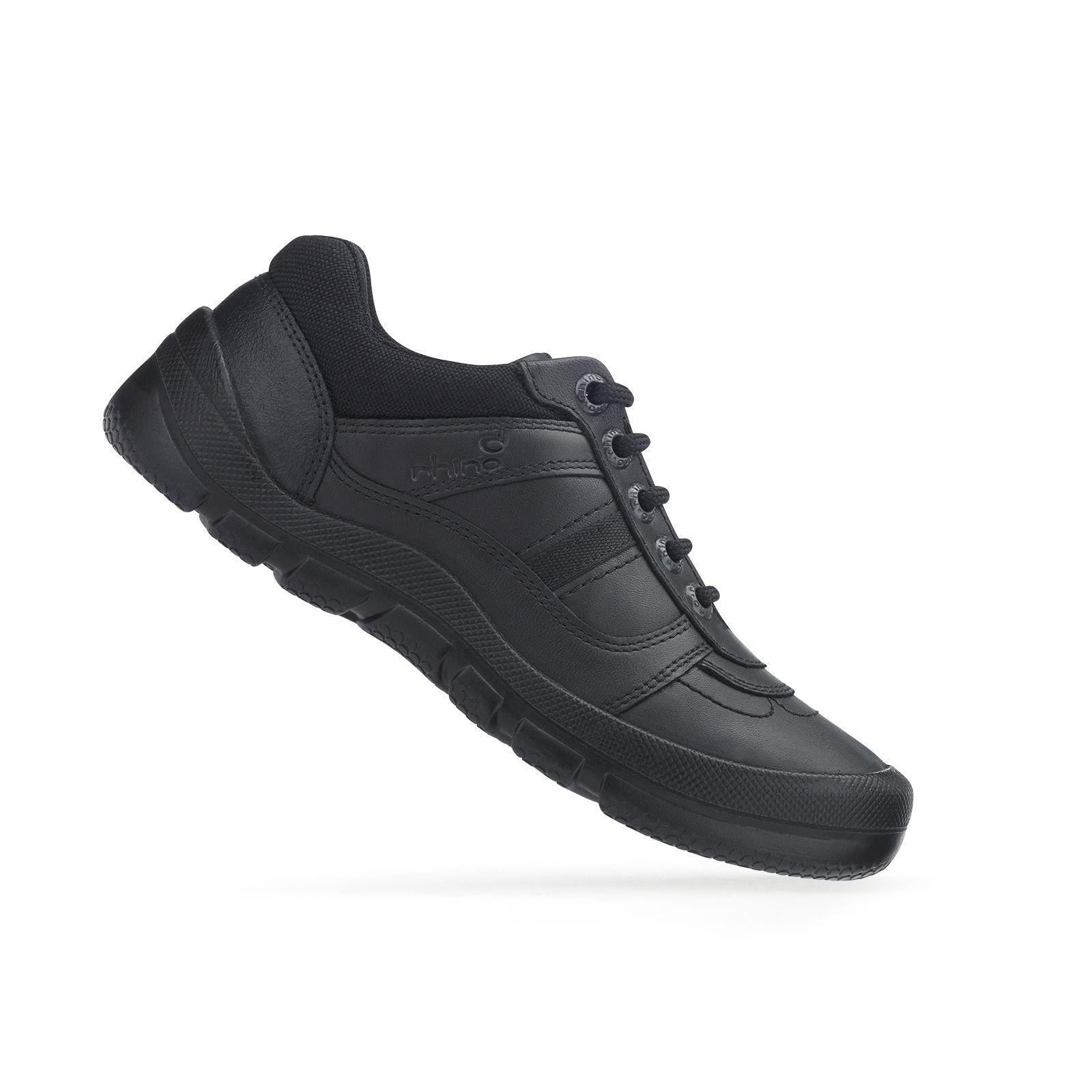 Black leather, Boys school shoes