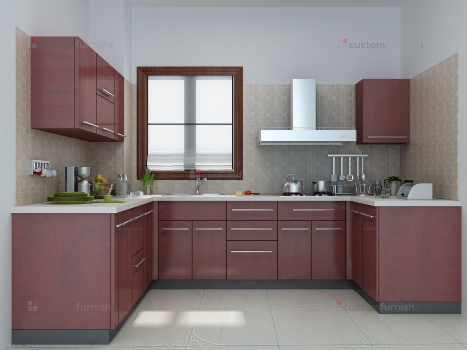 U shaped modular kitchen design  U shaped modular Kitchen designs in 2019  Interior design