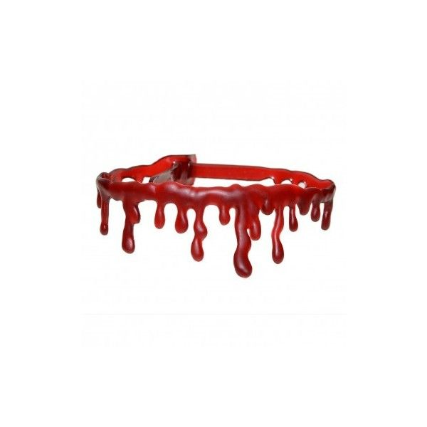 Dark Red Blood Drip Choker Necklace ($14) ❤ liked on Polyvore featuring jewelry, necklaces, adjustable necklace, choker necklace and choker jewelry