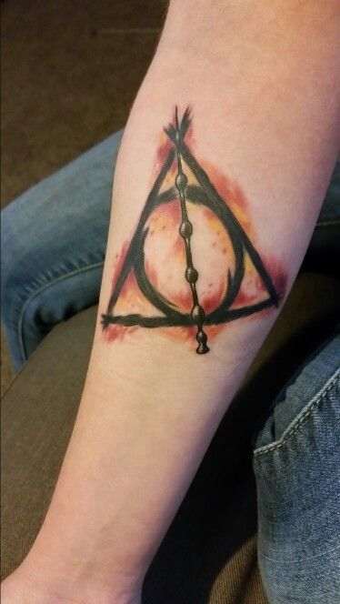 My Perfect Harry Potter Tattoo The Deathly Hallows Symbol Cute
