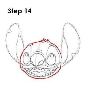how to draw cute stitch step by step