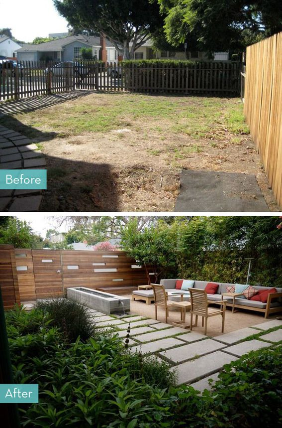 Backyard Before And After before and after: 5 inspiring porch and patio makeovers | backyard