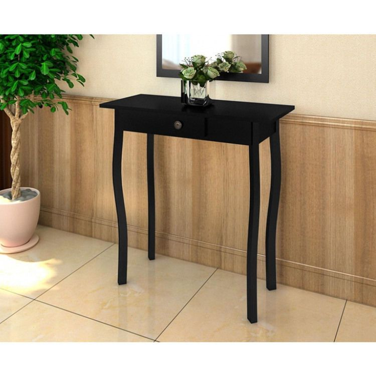 French Style Entryway Console Table Desk Wooden Furniture Hallway Decoration
