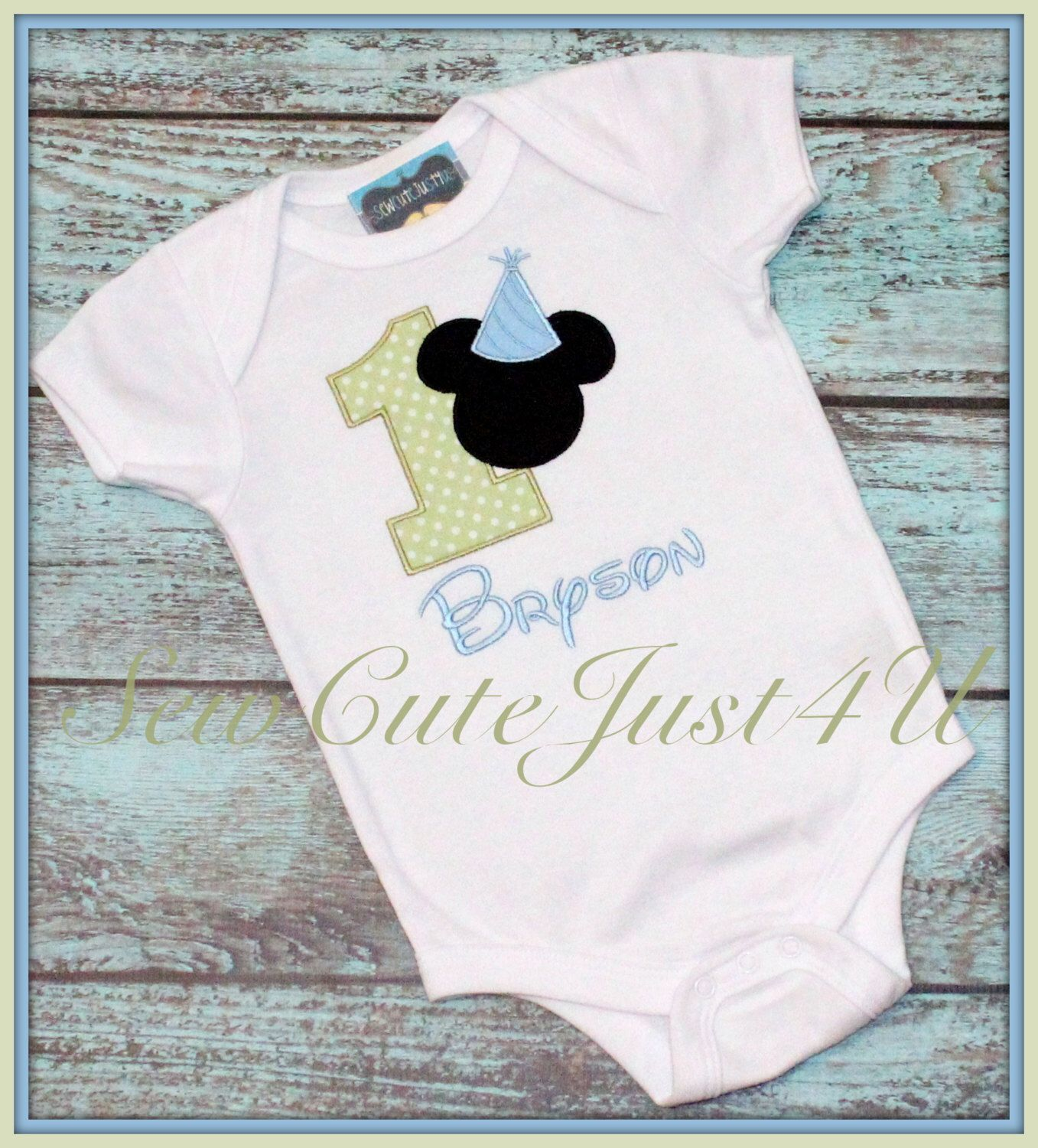 Mickey Mouse Birthday Hat Number Shirt By Sewcutejust4u On