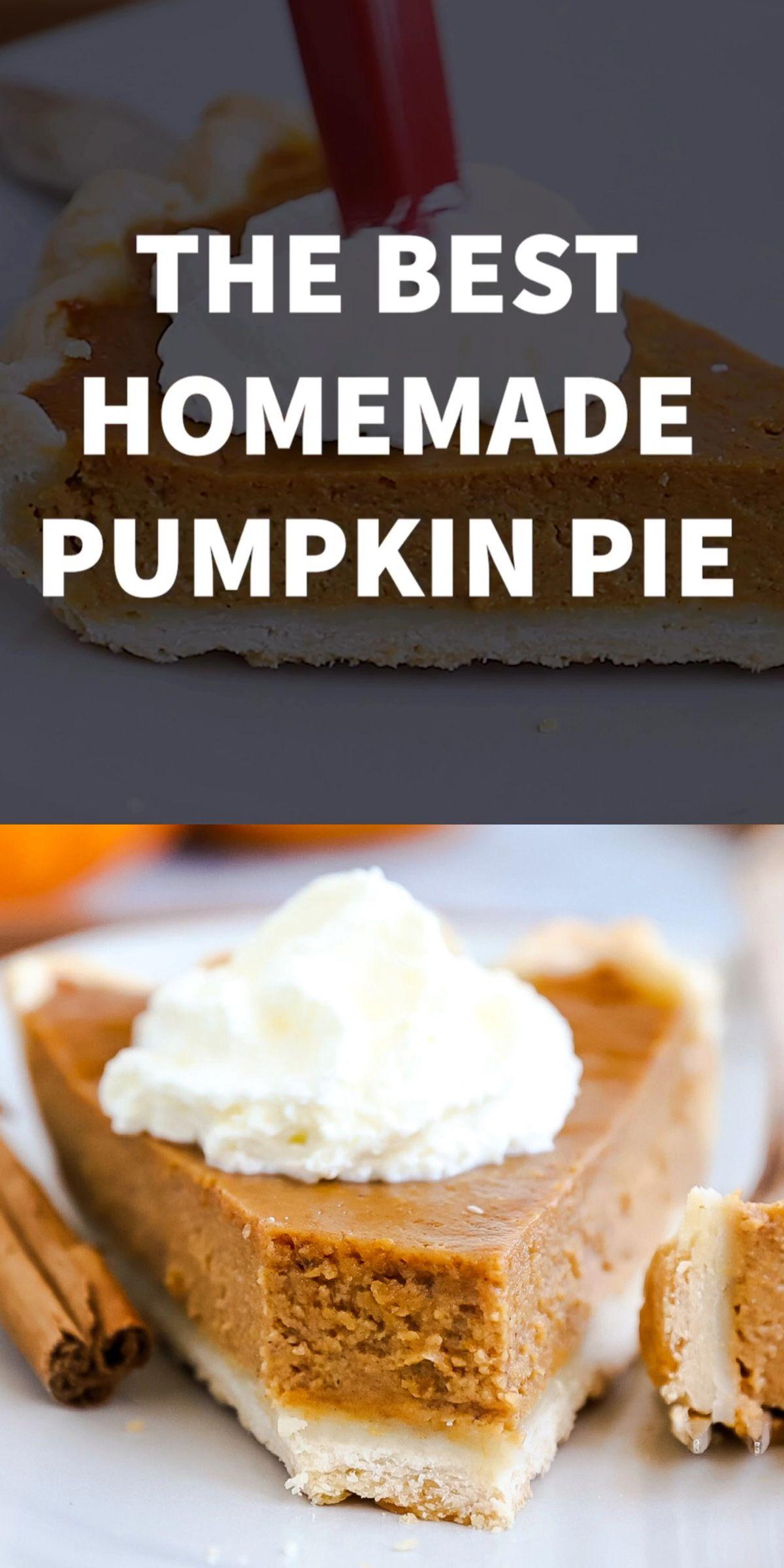 Homemade Pumpkin Pie #pumpkinpierecipe