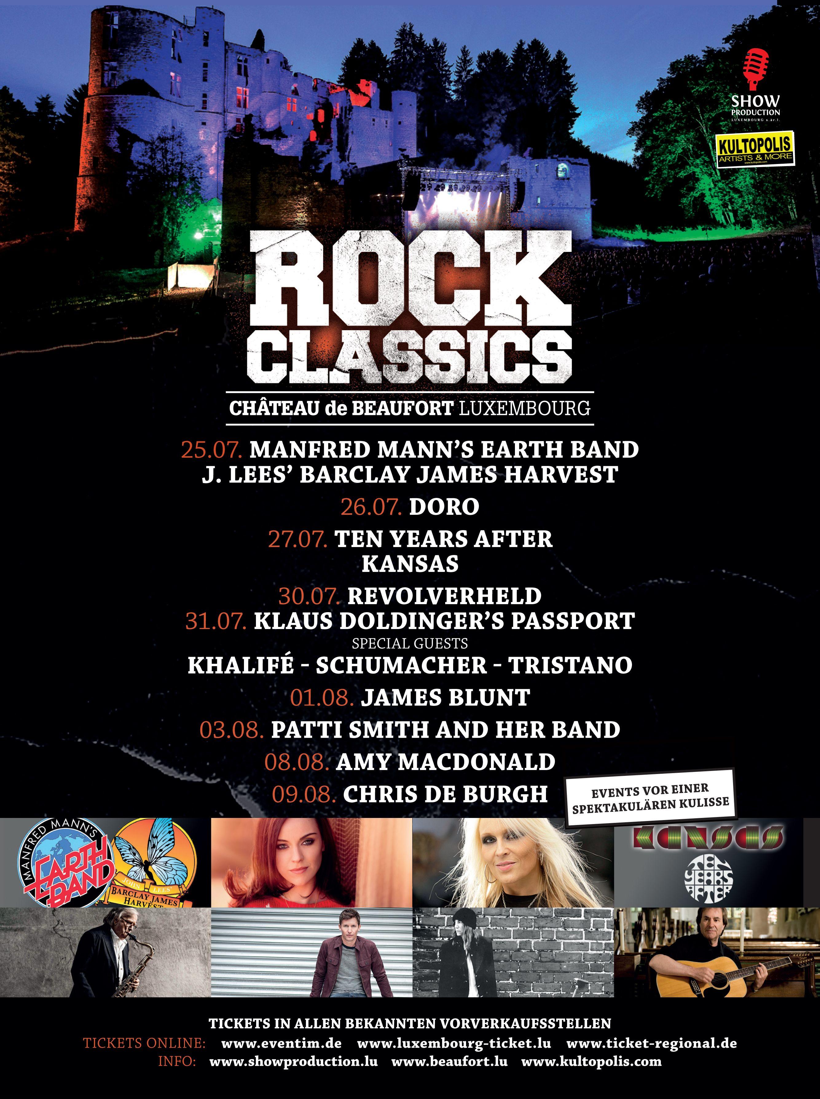 Rock Classics At Beaufort Castle 2014 Music Festival Concert