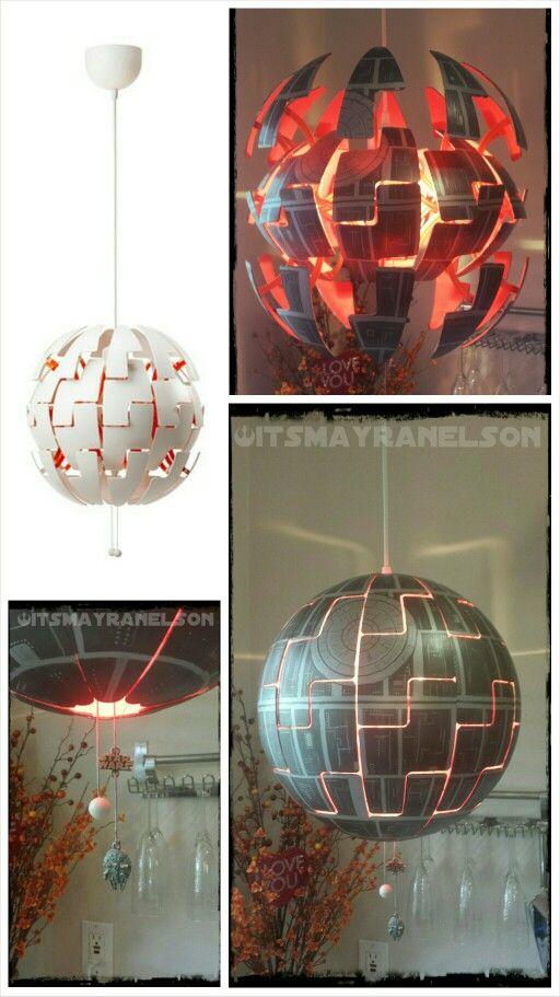death star ikea lamp cool ikea hacks pinterest. Black Bedroom Furniture Sets. Home Design Ideas