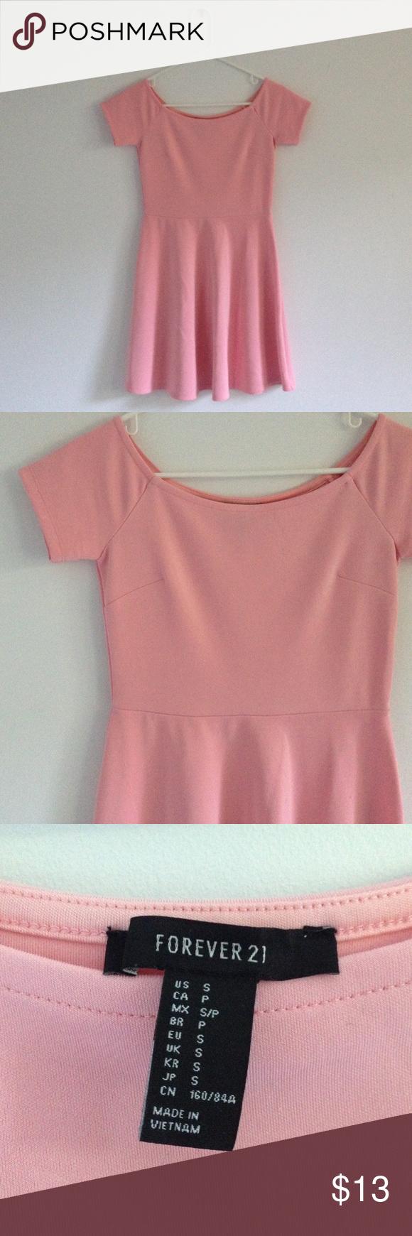 Forever 21 Skater Dress Tight Fitting, Thick Material, Flowy Skirt, Sundress Forever 21 Dresses Mini