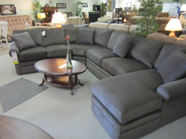 La Z Boy Collins Sectional Comfy Cozy Furniture Couch