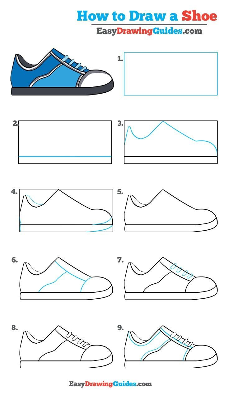 how to draw a shoe really easy drawing tutorial how to draw man made things houses cars. Black Bedroom Furniture Sets. Home Design Ideas