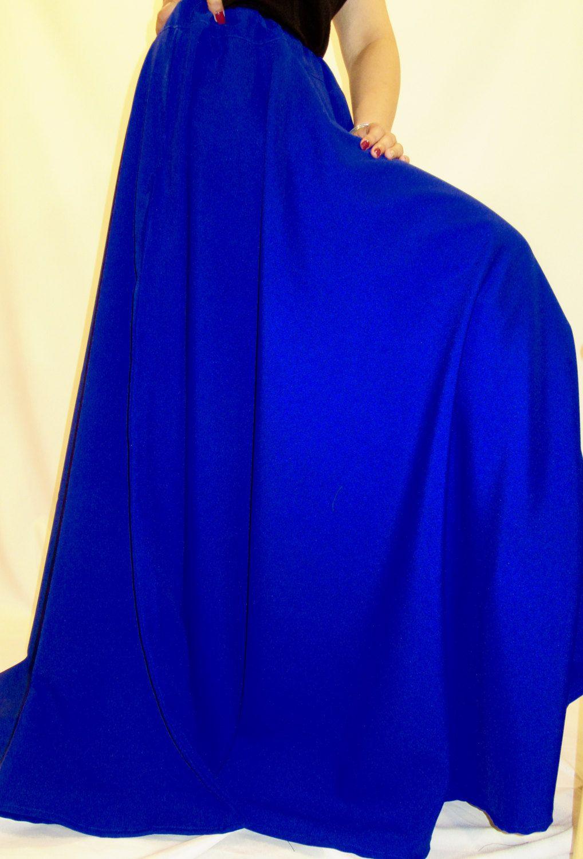 56ebf80884 Royal Blue Full Circle Skirt-Maxi Skirts-Royal Blue Color Long Skirt  Bridesmaid Skirt-Maxi Skirt-Beach wear skirt All Sizes skirt@sohoskirts by  SOHOSKIRTS ...