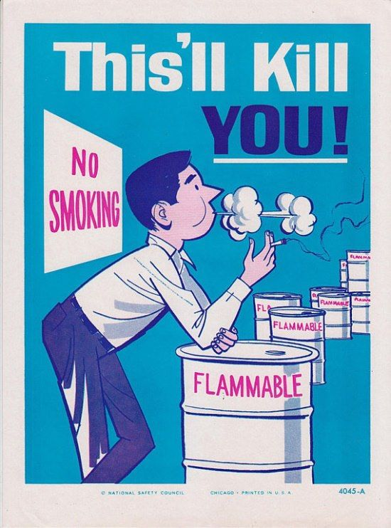 Smoke kills. | Workplace safety, Safety posters, Health ...