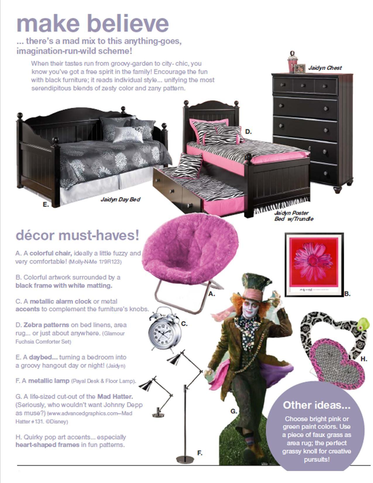 Create make believe bedroom with the Jaidyn Youth Bedroom from Ashley Furniture