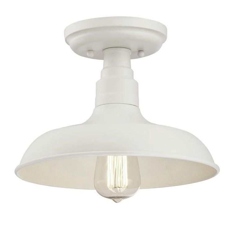 Design House 579631 Kimball Industrial Farmhouse 1 Light Indoor Semi Flush Ceiling Mount Light With Metal Shade For Kitchen Hallway Dining Room Bedroom Antique Semi Flush Ceiling Lights Metal Shades Farmhouse Lighting