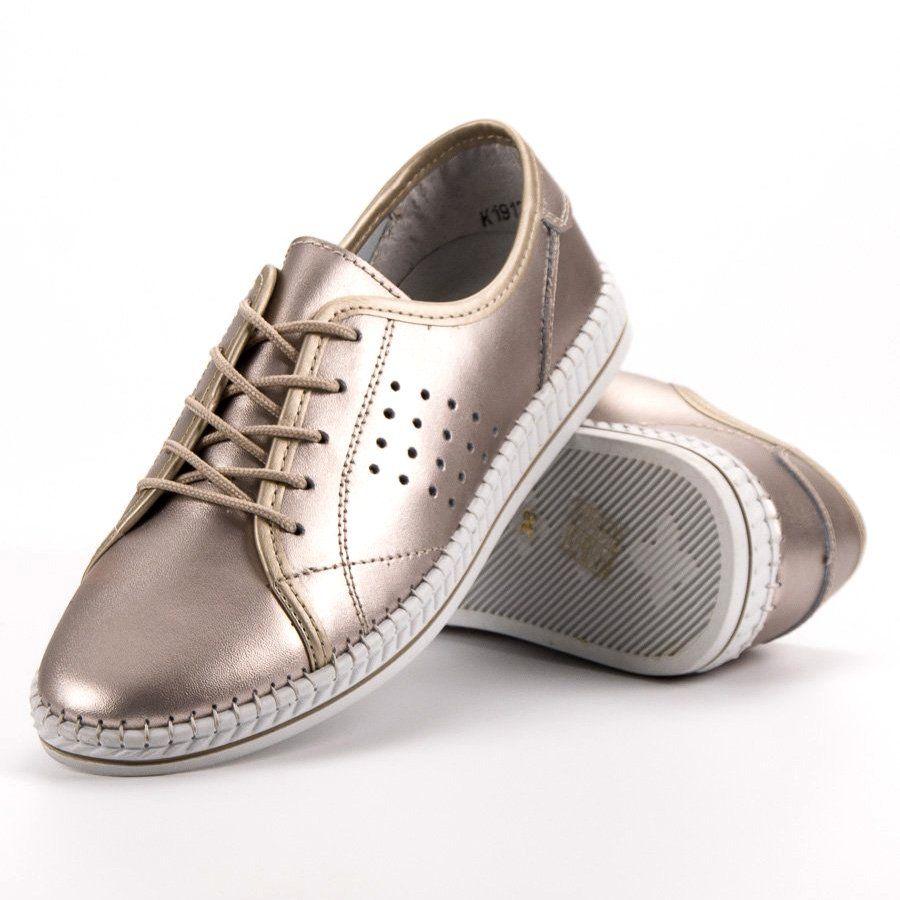 Kylie Sznurowane Skorzane Polbuty Zloty Dress Shoes Men Leather Shoes Shoes