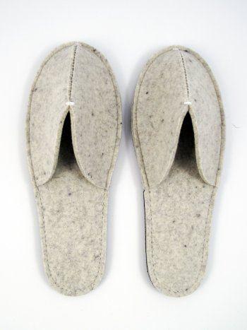 Felt slipper | Shoe lover | Pinterest | Pantoffeln, Taschen nähen ...