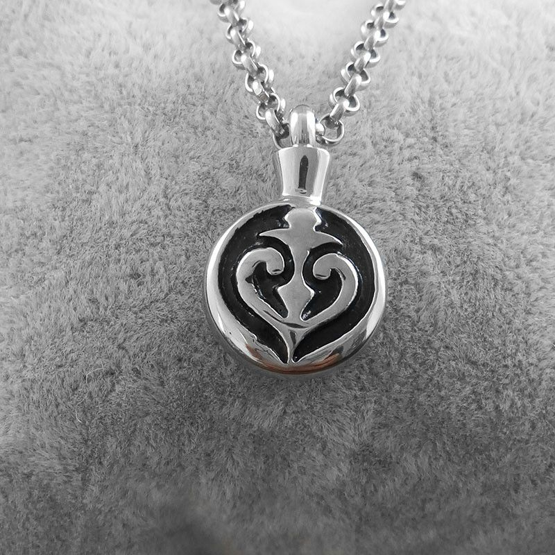316L Stainless Steel Necklace Memorial Cremation Urn Necklace Locket Pendant Bone Ash Jewelry For Men Women Pendant