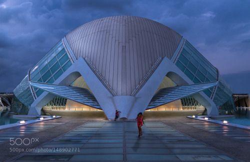 The Beetle by emacol blue hour Spain Valencia Santiago Calatrava emacol