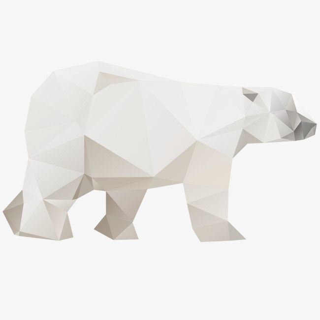 Origami Polar Bear Bear Vector Origami Polar Bear Png Transparent Clipart Image And Psd File For Free Download Polar Bear Bear Vector Origami