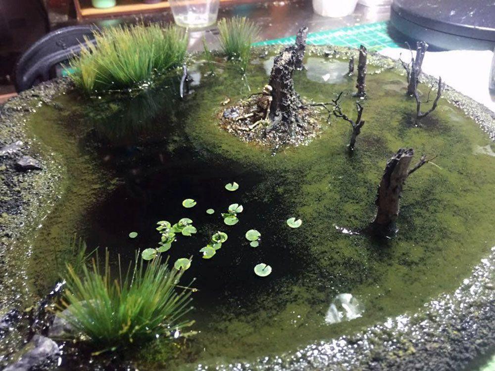 Swamp terrain #wargamingterrain