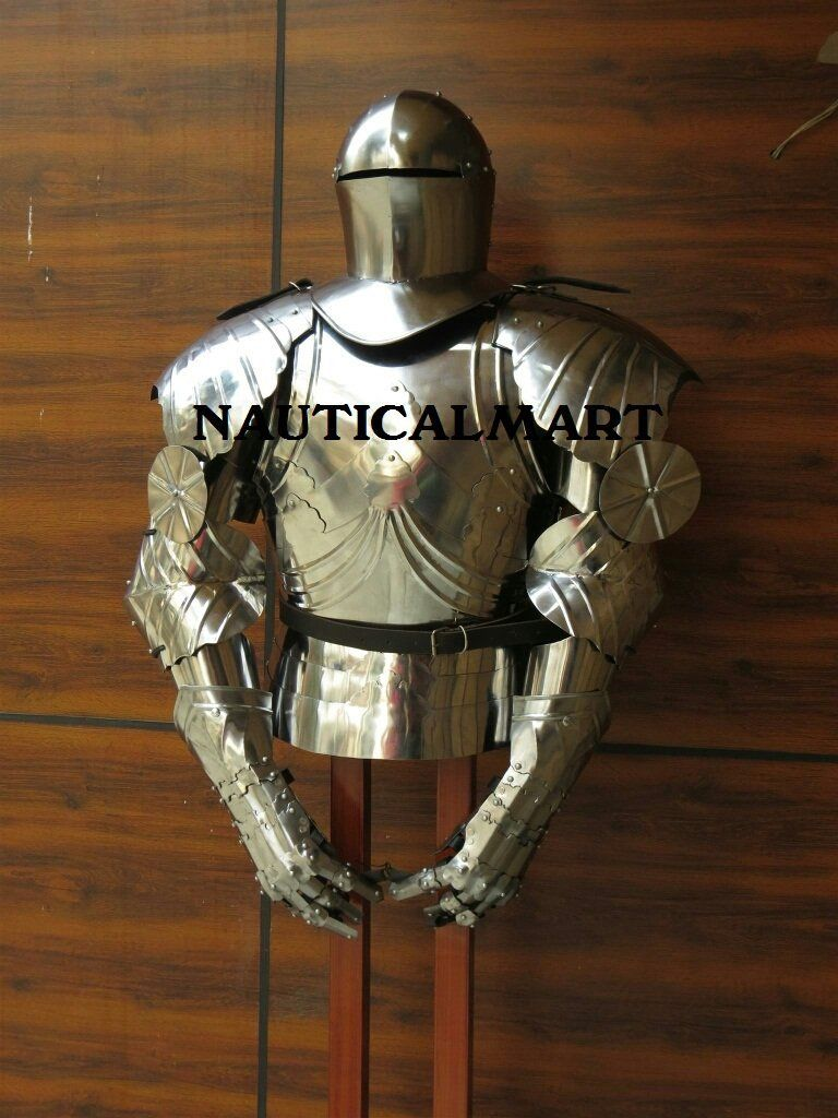 Wooden Display Stand for Medieval Roman Body Armor Helmet Breastplate Cuirass