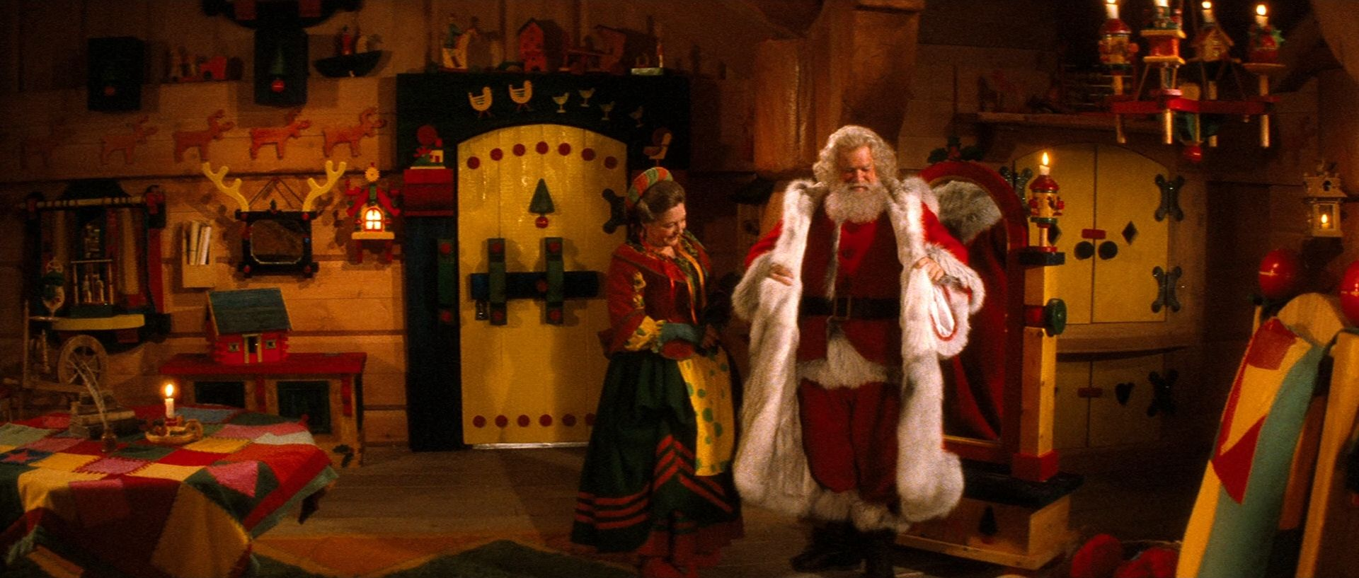 Santa Claus: The Movie. I love the first part where they show how ...