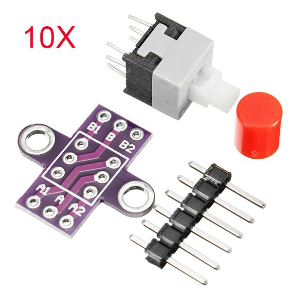 10pcs Cjmcu 010 Con Boton Cerradura Interruptor Con Autobloqueo Interruptor De Doble Fila The Row St Kitts And Nevis 10 Things