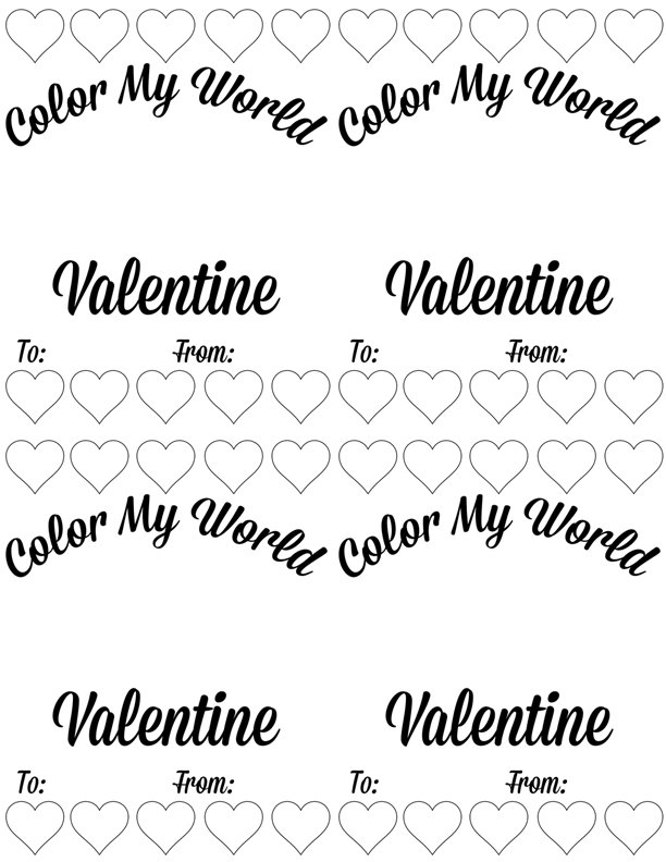 DIY Kids Melted Crayon Valentines | Crayons, Free printable and Craft