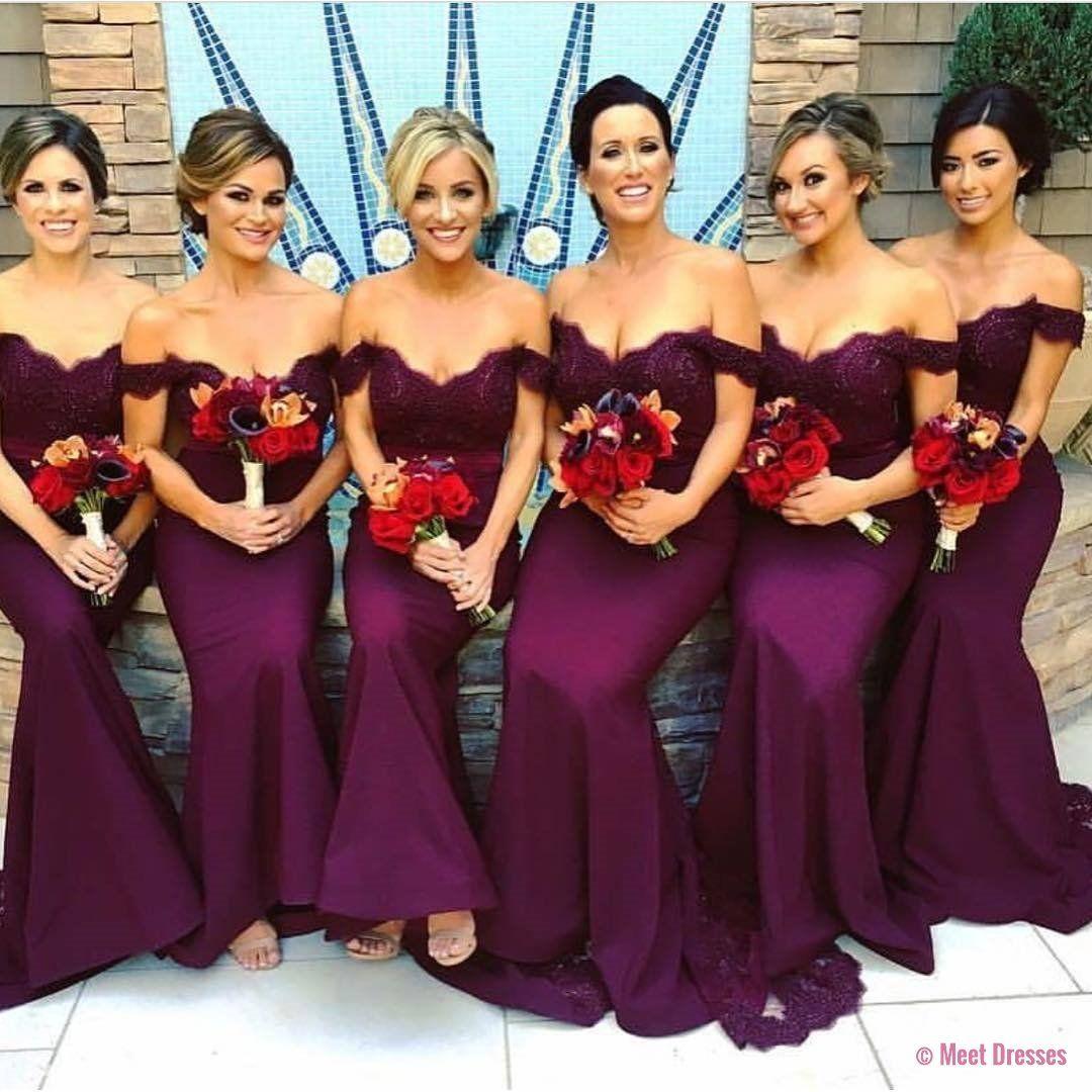 Mermaid prom dresslace appliques evening gownspurple lace
