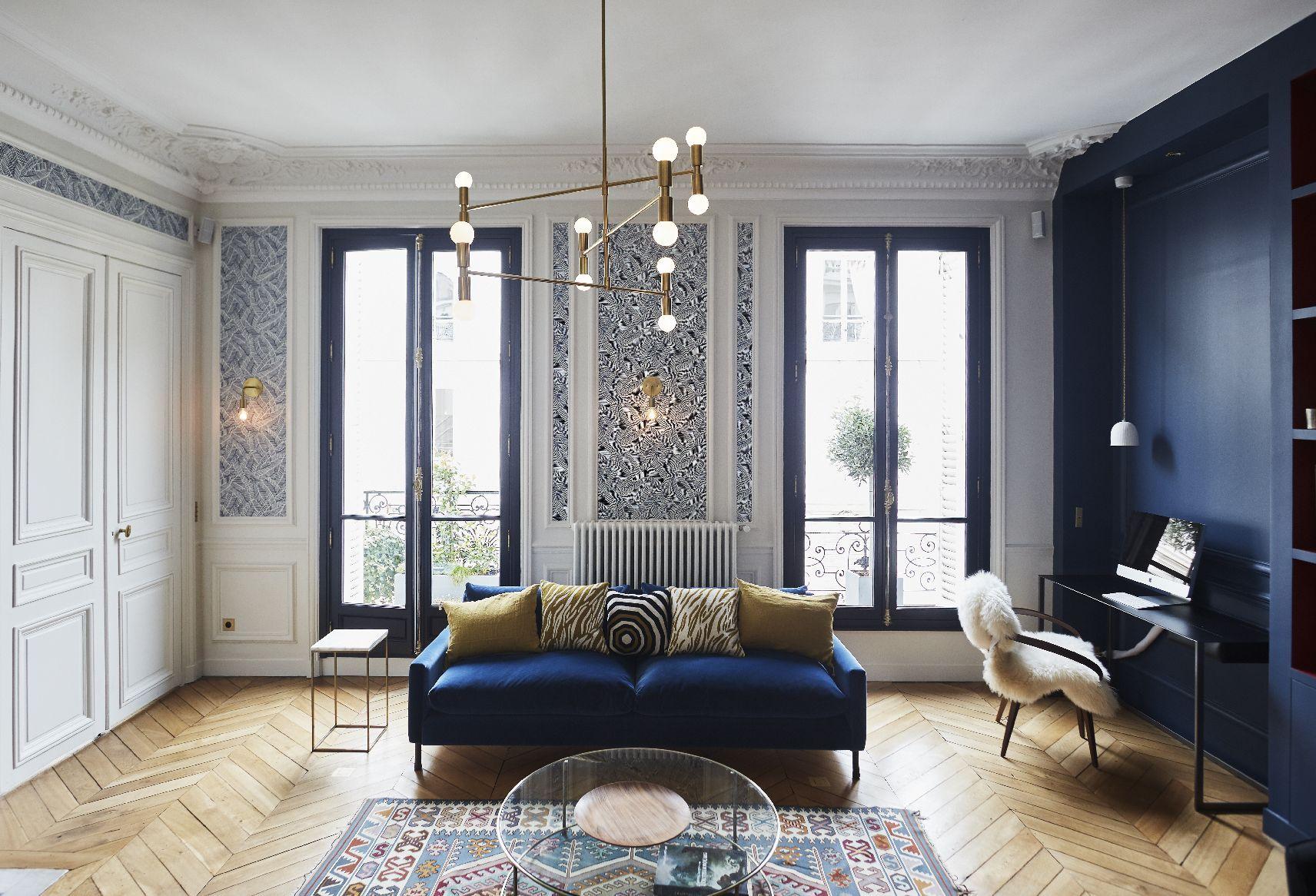 S jour appartement parisien de 150m2 gcg architectes Formation decoration interieur paris