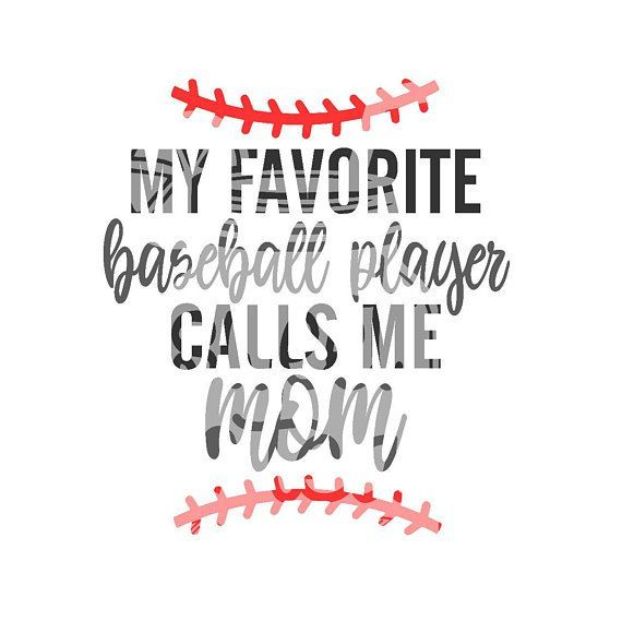 Photo of DIGITAL DOWNLOAD,cut file, baseball svg, baseball mom shirts, baseball mom svg, my favorite baseball player calls me mom, Cricut, silhouette
