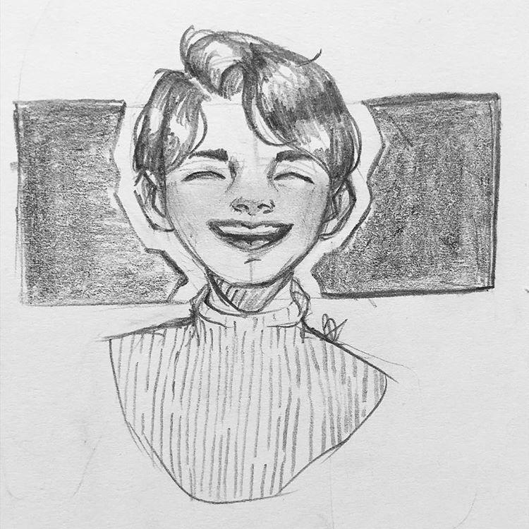 Happy Days Artistsofinstagram Art Oc Pencildrawing Pencil People Drawing Artist Happy Smile Yay Tur Happy Face Drawing Drawing People Drawings