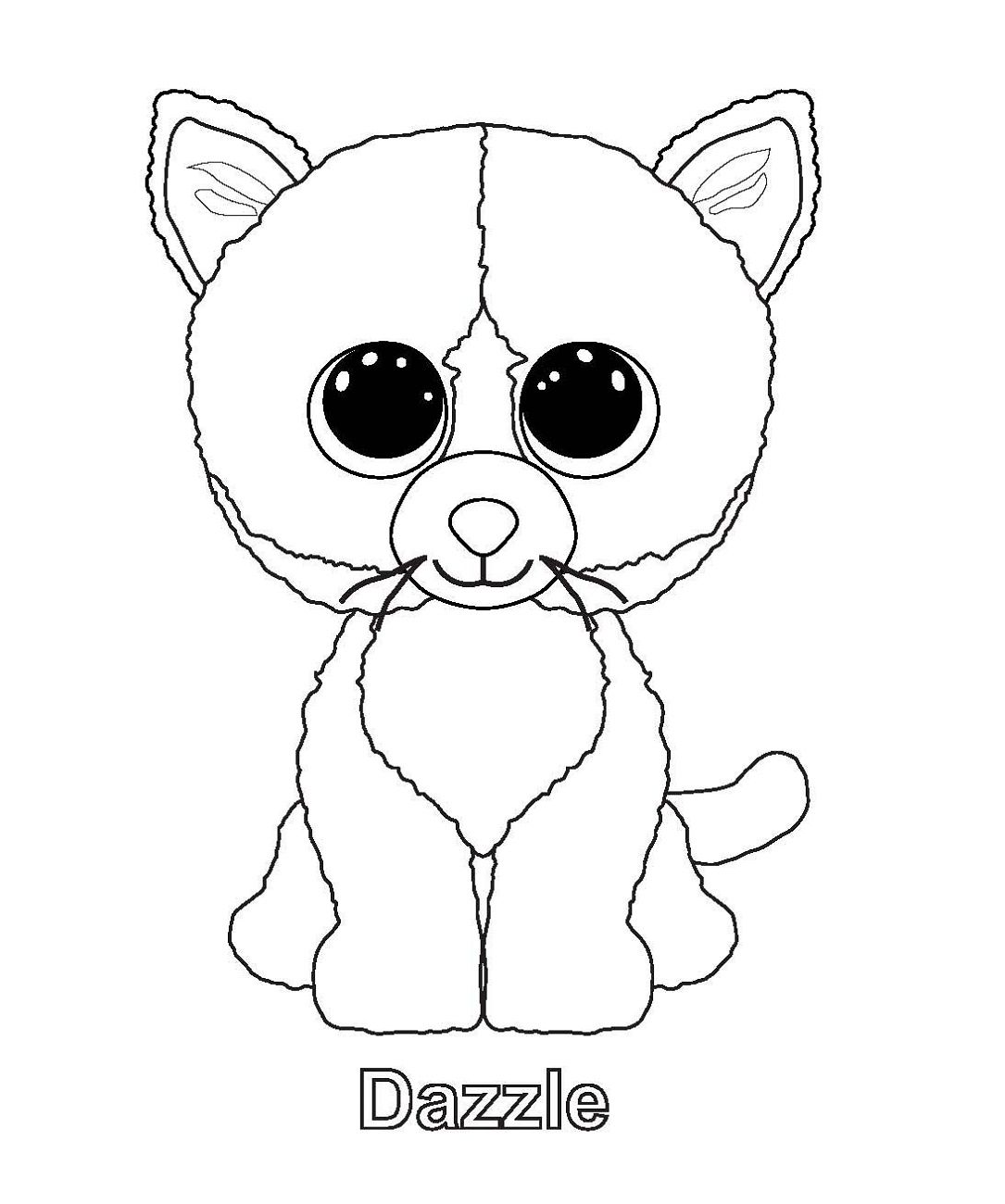 Dazzle Beanie Boo Coloring Pages