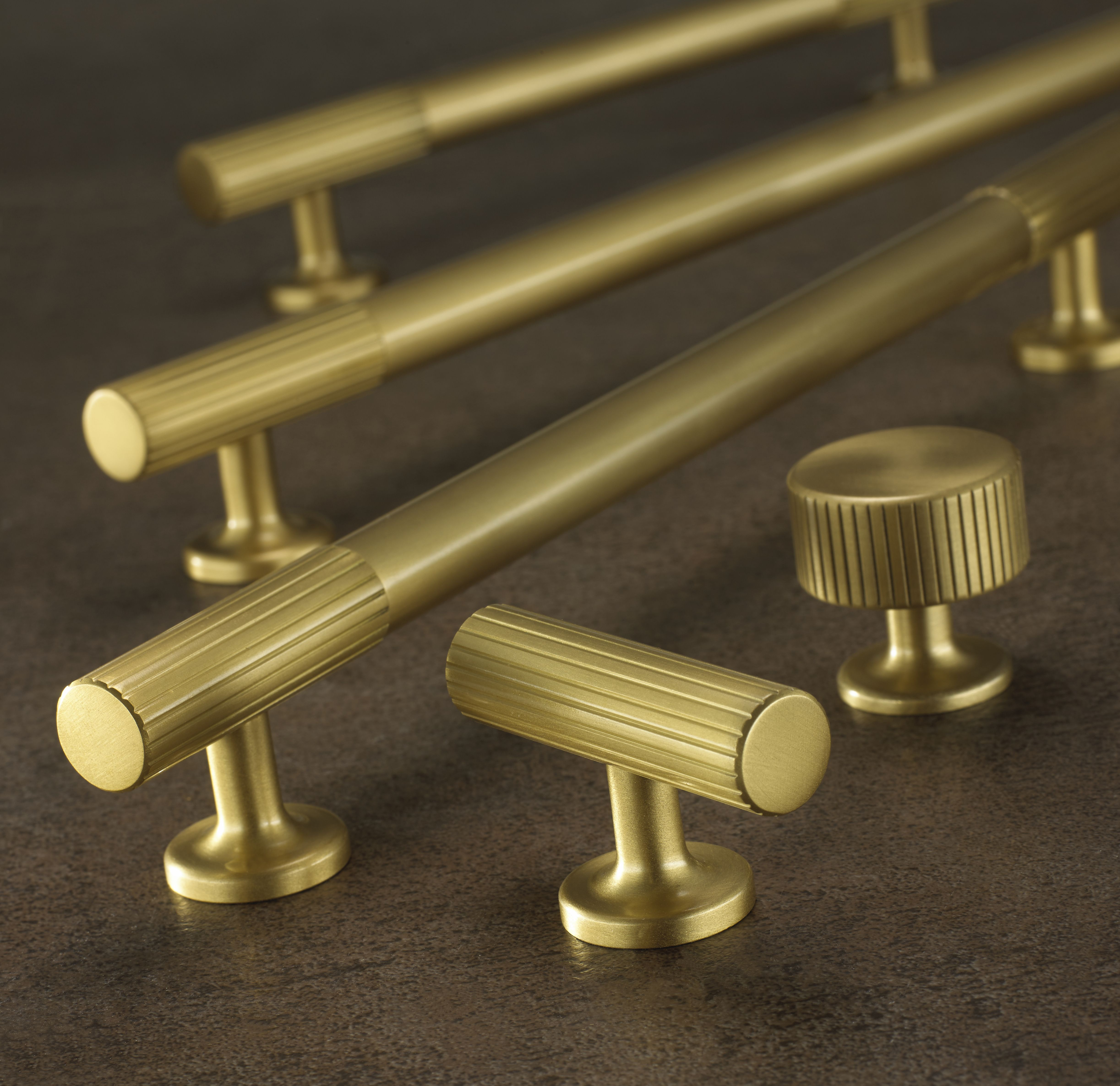 Interior brass door handles and knobs. From Armac Martin, used by ...