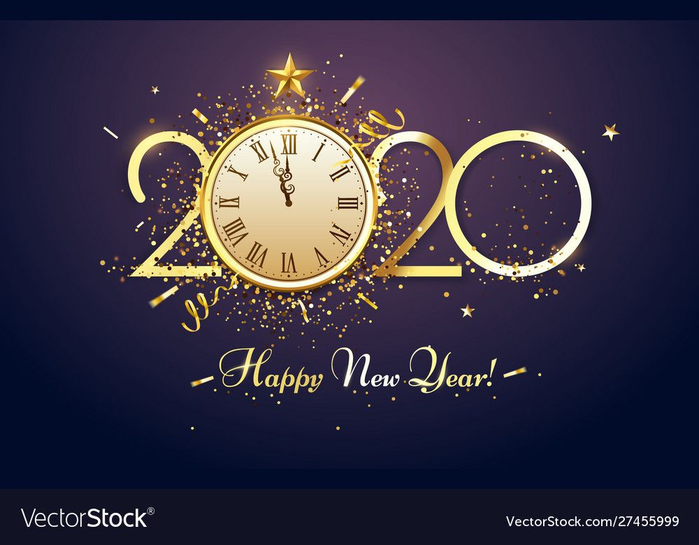 Happy 2020 New Year Party Countdown Clock With Vector Image Sponsored Year Party Happy Happy New Year Wishes Happy New Year 2020 Happy New Year Gif
