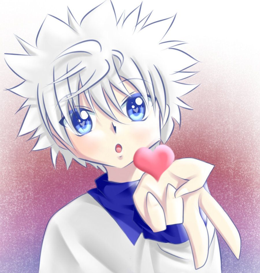 Killua blowing a kiss