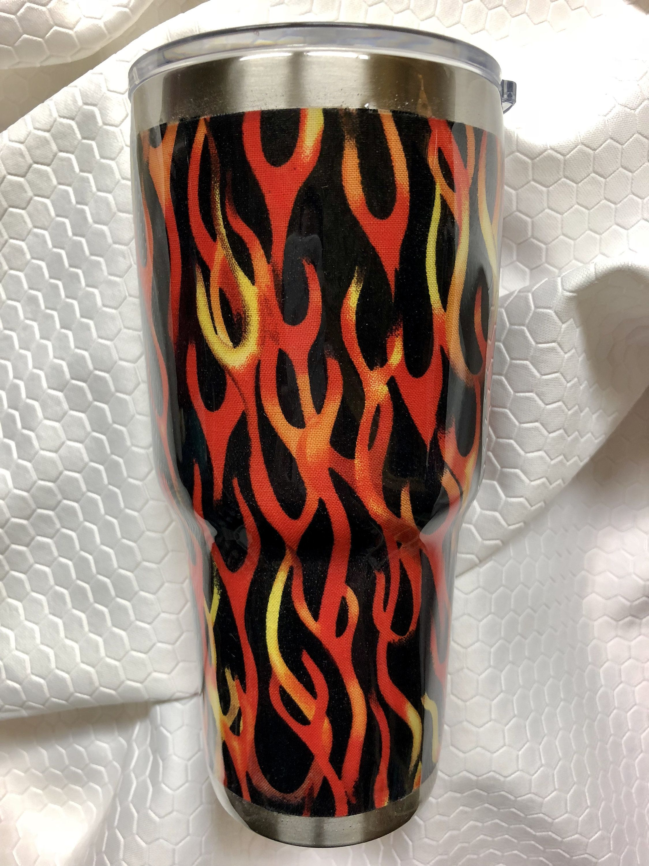 1f4ad36121d Flame Theme 30 oz Stainless Steel Epoxied Tumbler by SavvyBySusan on Etsy