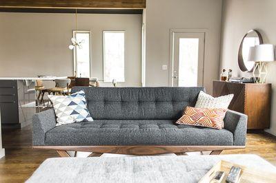 Astro Sofa and Astro Ottoman in client's home - photo cred: Qube Eleven / Dialect Design