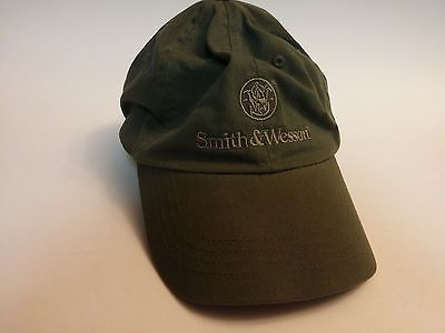 Smith-amp-Wesson-Baseball-Cap-Trucker-Hat-One-Size-Army-Olive-Green-Preowned