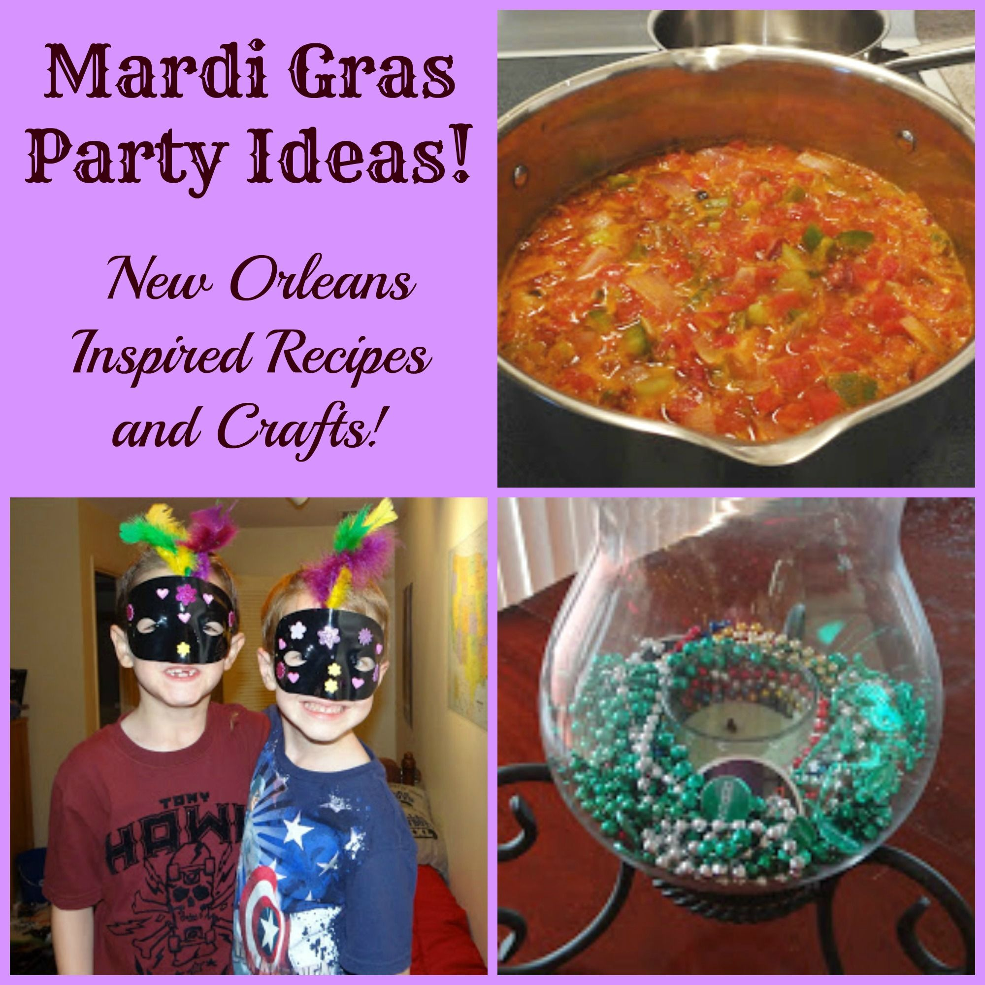 mardi gras party ideas (from a past house party event) | crafty 2