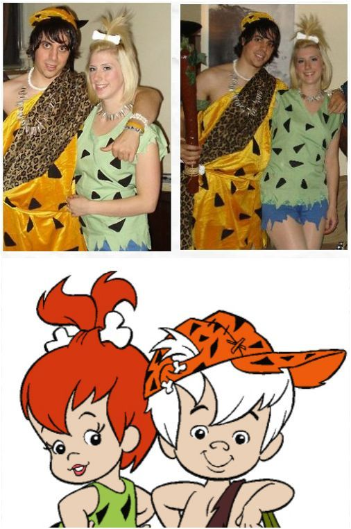 DIY Couples Costume Pebbles and Bam-Bam With only one week left until Halloween I thought this was a great time to share my quick and easy do-it- yourself ...  sc 1 st  Pinterest & LOL Mike we can so do this one thatu0027s what they use to call us when ...