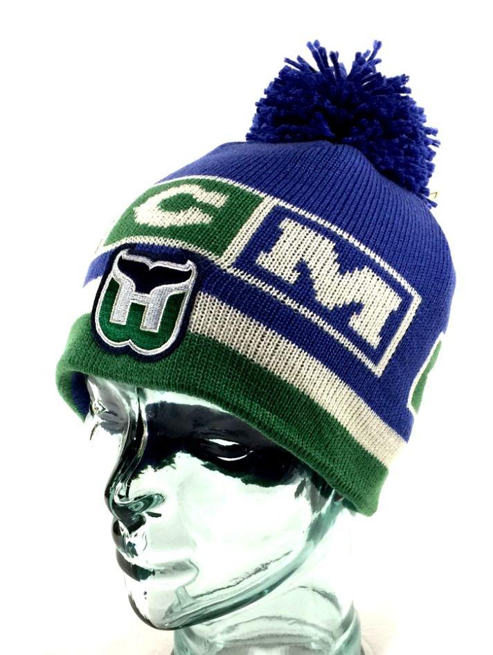 573a7e2491c norway flyers knit cap f2274 a886c  closeout ebay style cuffless fitted pom.  hartford whalers nhl hat cap. jacquard 3dac8 e901b