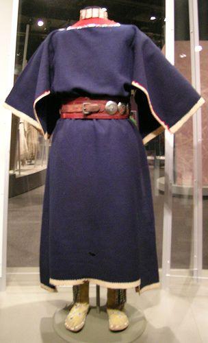 Kiowa Cloth Dress, Choker, Belt and High Top Moccasins by akseabird, via Flickr