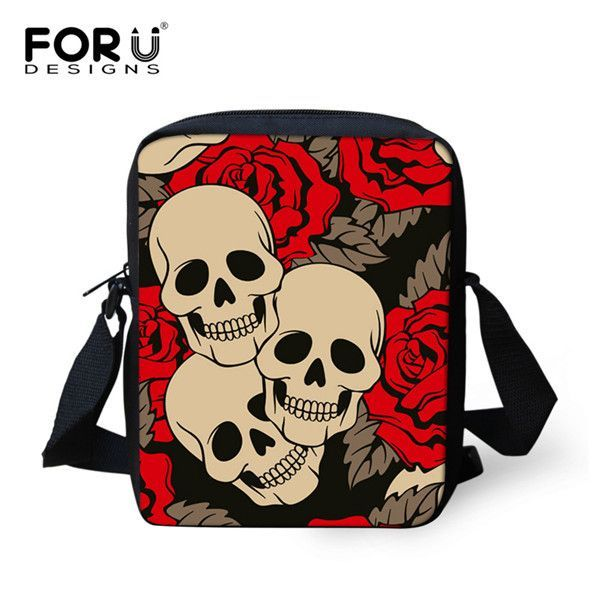 New Fashion Women Messenger Bags Punk Skull Zombie Cross Body Bags Casual Brand Designers Mini Travel Shoulder Bag Female Bolosa